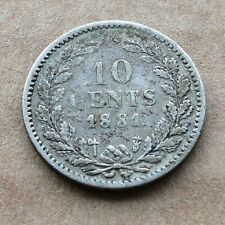 10 Cents 1881. from Netherlands KM#80  0.640 Silver