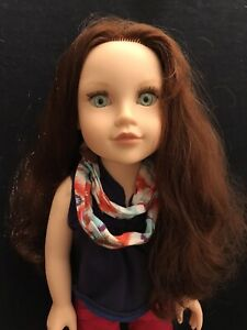 """Journey Girl Kelsey 18"""" Doll With Outfit  & Shoes Reddish Brown Hair Green Eyes"""