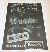 early 2000's band flier ~ JAKE THE EVIL REDNECK, LAZY AMERICAN WORKERS, ASG