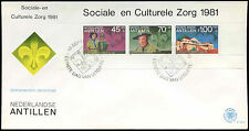 Netherlands Antilles 1981 Boy Scouts M/S FDC First Day Cover #C26719