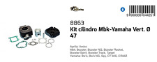 8863 Kit Cilindro COMPLETO Ø47 MBK Target 50 1991-1995