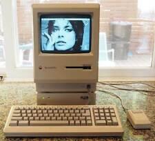vintage APPLE Macintosh Plus M0001A w/Keyboard, Mouse, Rodime 20MB SCSI WORKS