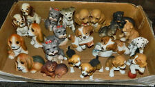 Dog Figurines Lot of 21 Porcelain Hand Painted