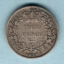 New listing Great Britain. 1837 William 1111 - Sixpence. Fine