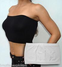 Seamless strapless bandeau tube top bra White FREE SHIPPING TO U.S.