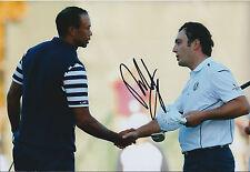 Francesco MOLINARI SIGNED Autograph 12x8 Photo against Tiger WOODS AFTAL COA