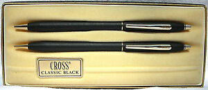 Cross Black Set nearly mint boxed with original papers