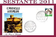 ITALIA FDC ROMA CASTELLI D'ITALIA LA ROCCA DI URBISAGLIA 1990 ANNULLO MATERA E8