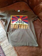 T SHIRT FREE TIBET KHAKI EN TBEG TAILLE S