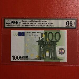 N1 Europe GERMANY 100 Euro 2002, UNC, DRAGHI