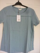 Nomads Fair Trade Ocean Blue Boat Neck Cotton Top UK 14 EUR 40 US 10.