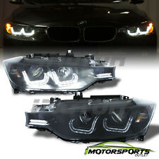 [U Type LED DRL Tube] 2012 2013 2014 BMW 3-Series F30 4Dr Projector Headlights