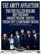 AMITY AFFLICTION/FOR THE FALLEN DREAMS/EXOTYPE 2014 PORTLAND CONCERT TOUR POSTER
