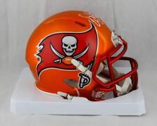 Warren Sapp Autographed Tampa Bay BLAZE Mini Helmet W/ HOF- JSA W Auth *White