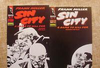 2 Comics, Sin City, nº 3 y 4, Moriría por ella, Legend, Norma Editorial, 1994