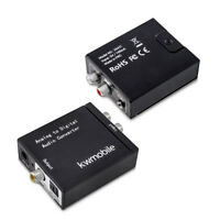 Analog zu Digital Audio Konverter Wandler Klinke RCA 2x Ausgang Toslink Koax