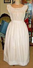Civil War Underhoop Eyelet Trimmed Modesty Petticoat~Reg Size~Ds In Waistband
