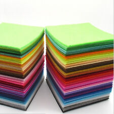 40 Colors/pcsRainbow Felt Sheets DIY Craft Polyester Wool Blend Fabric 5.9*5.9''