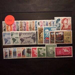 ITALIA REPUBBLICA 1961/ ANNATA COMPLETA DI 36 VALORI INTEGRI MNH**