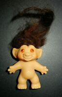 Vintage Troll Doll With Painted Orange Eyes
