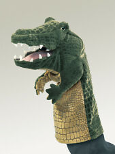 *NEW* PLUSH SOFT TOY Folkmanis 2559 Crocodile Stage Hand Puppet 35cm