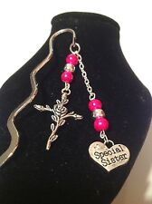 Special Sister.... book mark Music pink