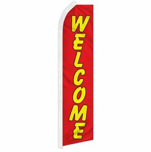 """WELCOME"" advertising super flag swooper banner business sign ry"