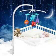 Home Baby Crib Mobile Bed Bell Toy Holder Hanging Arm Bracket White Xmas Gift Us