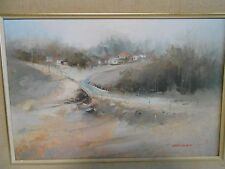 JOHN LOVETT AUSTRALIAN OIL ON BOARD PAINTING