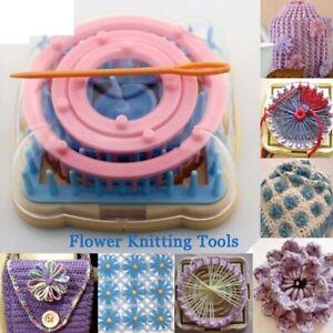 Flower Fork Knitted Device Hand Knitting Tool Loom Daisy Pattern Maker Weave Set