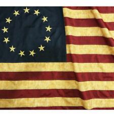 Anley Vintage Style Tea Stained Betsy Ross 3x5 Foot Nylon Flag With Embroidered Stars