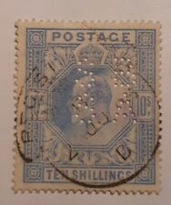 GB  EDVII  SG319    10/-   BLUE    FINE USED  as pictures.