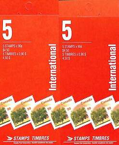 Canada - Booklets #BK181 & BK181A - 1995 - Both Papers Peterborough & Coated