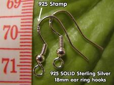 Ear ring hooks (10 pairs) - 925 SOLID Sterling Silver - French style