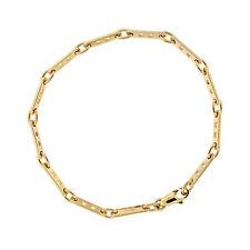 Cartier Jewelry 18K Yellow Gold 7.5 inch Bar Link Fancy Chain Bracelet