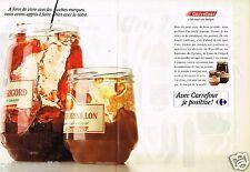 Publicité advertising 1989 (2 pages) Les Produits magasin carrefour...Confiture