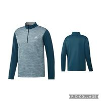 New!! adidas Golf Mens Core Layering 1/4 Zip Pullover-Mineral- choose size