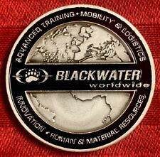 AUTHENTIC BLACKWATER WORLDWIDE SECURITY SOLUTIONS CORE VALUE RARE CHALLENGE COIN
