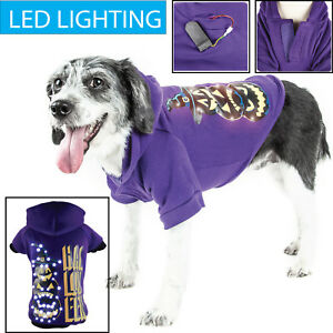 LED Lighting Halloween Happy Snowman Hooded Pet Dog Sweater Pet Costume