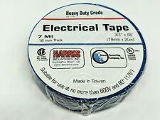"""LOT of 100 Rolls - Blue Harris Industries Electrical Tape VE-75 3/4"""" x 66 feef"""