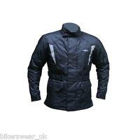 Roxter Black Waterproof Jacket - Motorcycle /motorbike winter textile jacket