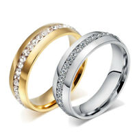 Men Women's Wedding Stainless Steel Band Ring Engagement Jewelry New Gift Sz6-13