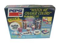 Vintage 1990 Pepsi Majik Party Set NIB Sealed 12 Piece Set 7 Color Change Pieces
