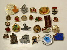 Canada Parliament Flags Maple Leaf Pins Buttons Lot of 25 Different  #1891