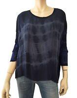 RAQUEL ALLEGRA Tie Dye Silk Chiffon and Jersey Oversize Top Size 0 XS
