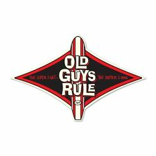 "OLD GUYS RULE DIAMOND LONGBOARD "" OLDER I GET..THE BETTER I WAS "" DECAL STICKER"