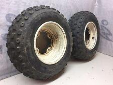 Mojave 250 KSF atv quad front wheels tires rims no leaks about 50% tread