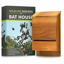 - Premium Cedar Wood Bat House Durable Double Chamber Box For Outdoors Easy To