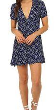 NEW FREE PEOPLE Melody Print Mini Dress Sz 12 $128 CRANBERRY Combo Bloomingdales