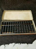 Wooden black abacus made in Japan 11.25  inches by 5 inches 91 beads